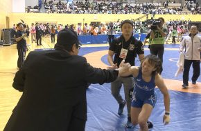 川井梨紗子選手 2019世界選手権代表決定プレーオフ